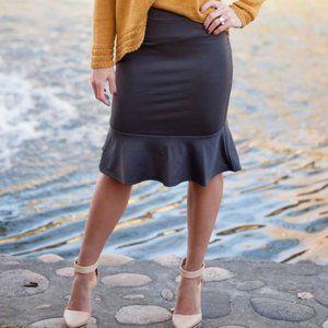 Size small grey peplum skirt- never worn